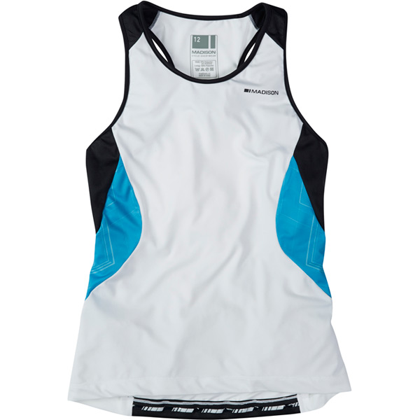 Sportive women's sleeveless jersey, white / hawaiian blue size 10