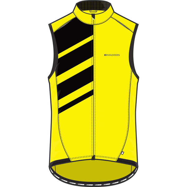 Sportive men's race shell gilet, hi-viz yellow X-large