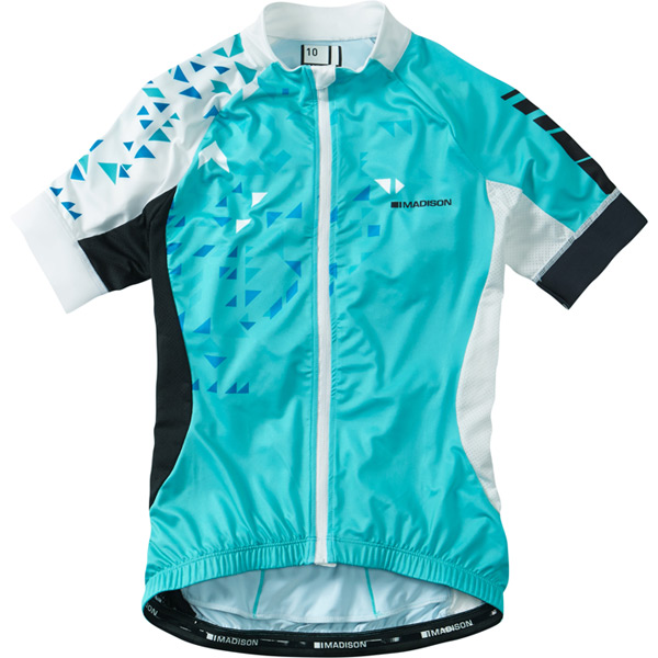 Sportive women's short sleeve jersey, blue curaco / white size 10