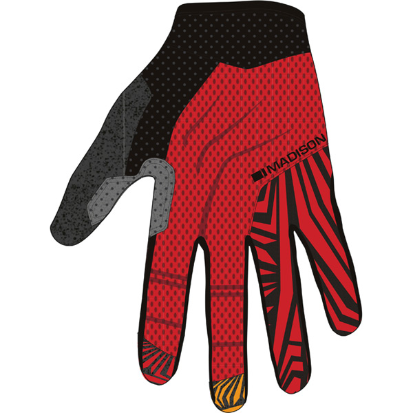 Flux men's gloves, true red / black large