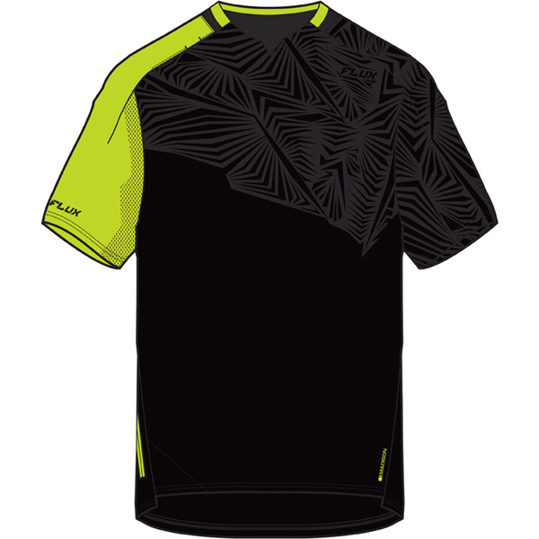 Flux Enduro men's short sleeve jersey, black / krypton lime medium