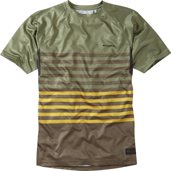 Roam men's short sleeved jersey, olive green / phantom large