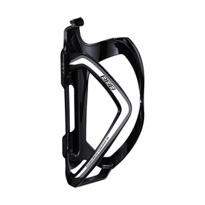 BBC-36 - FlexCage Bottle Cage (Black. White Decal) gloss