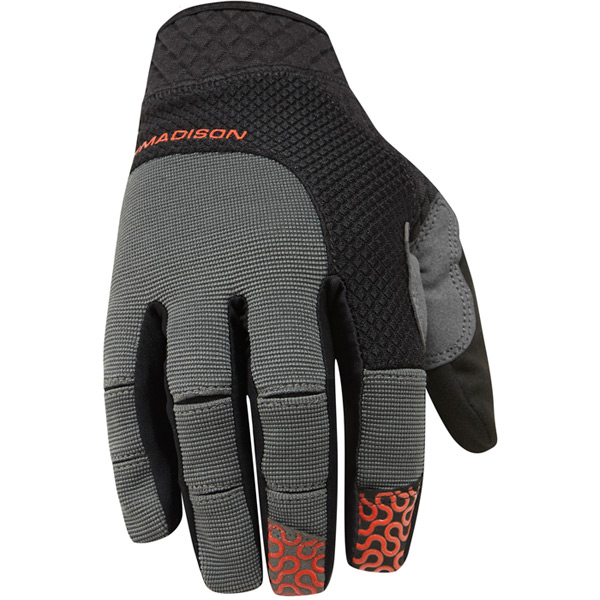 Flux men's gloves, black / chilli red medium