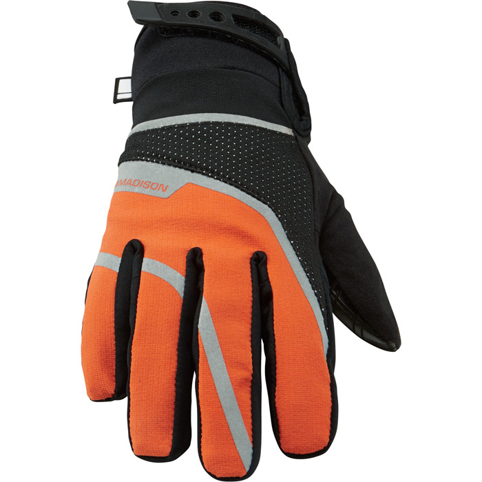 Gloves Wms Waterproof BLK/Or Md