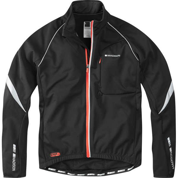 Sportive men's softshell jacket, black medium
