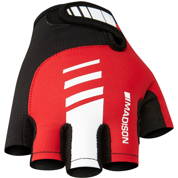 Peloton men's mitts, flame red small